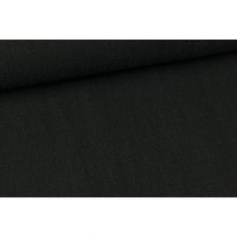 gewaschene Baumwolle Webware Stonewashed Schwarz
