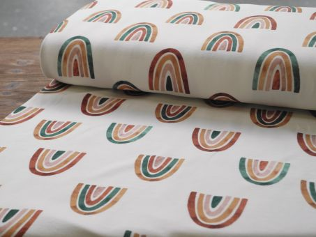 Jersey Family Fabrics Over The Rainbow Regenbogen