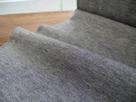 Jersey Schwarz feine Ringel Streifen