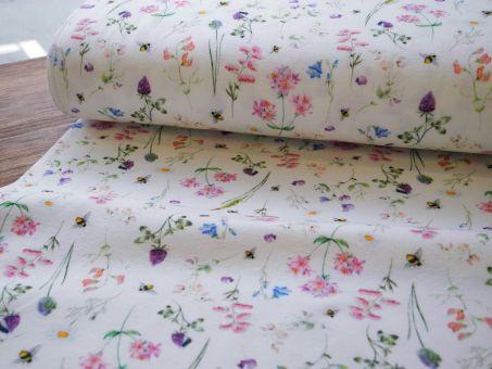 Jersey Aquarell Digitaldruck Spring Flowers