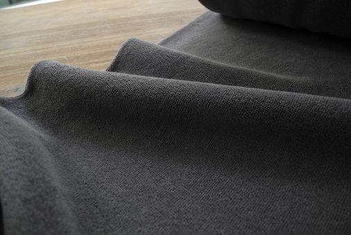 Frotteejersey Frottee elastisch Grau