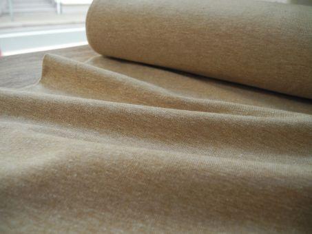 Soft Jersey Melange Hazelnut