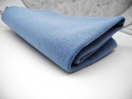 Bündchen Uni Smokey Blau