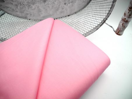 Webware 100% Baumwolle Baumwollstoff Poplin UNI Candy Rose