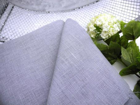grob gewebter WEICHER Leinenstoff 100% Leinen Grau Light Grey