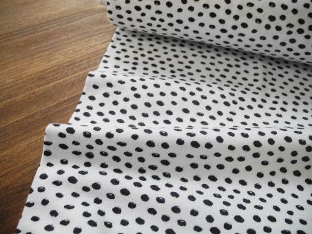 Bio Jersey Black White Dots Punkte