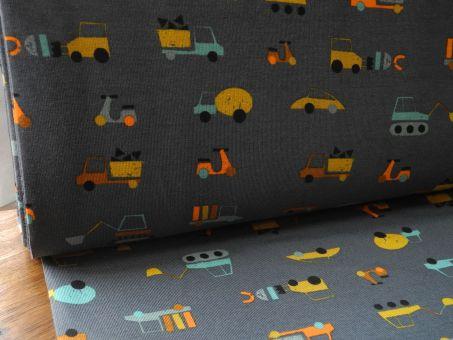 Bio Jersey Baumwolljersey Fahrzeug Grau
