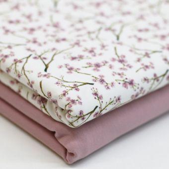 Jersey Cherry Blossom Blumen Aquarellfarben Wasserfarben Digitaldruck