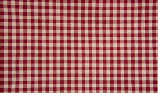 Webware 100% Baumwolle Baumwollstoff Vichy Karo Bordeaux kariert groß 1cm