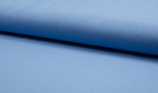Mini Waffel Waffeljersey Pique Hellblau